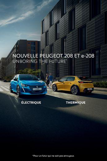 Design attrayant, lignes athlétiques, motorisations thermique ou électrique : découvrez la Nouvelle #Peugeot208 #UnboringTheFuture