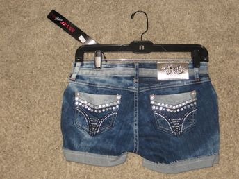 113c902c The shorts have rhinestones around the pockets on the front and back. The  shorts have