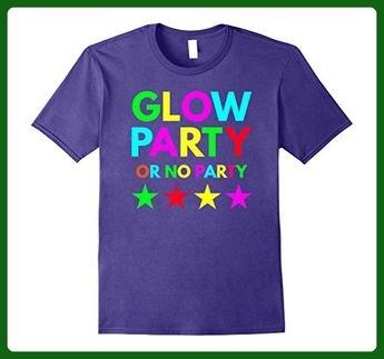 Mens Glow Party Or No Kids Cute Birthday Gift T Shirt Small Purple