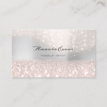03bc997e183 Sparkly Pink Glitter Makeup Artist Fashion Blog Appointment Card |  Zazzle.com