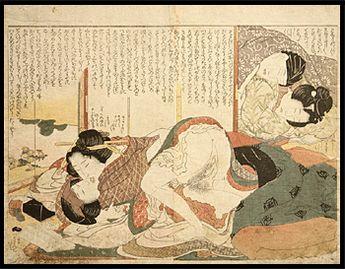 Hokusai Katsushika ( 1760 -1849 ) Antique Japanese (shunga) Woodblock Prints.