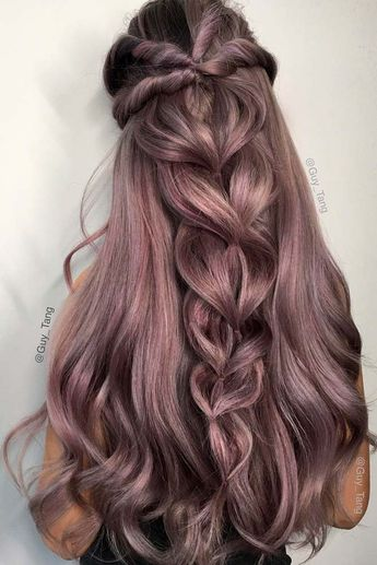 18 Nice Holiday Half Up Hairstyles for Long Hair