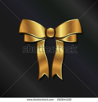 Ribbon in gold. Graphic