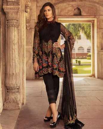 4efd649ca1 Get the Most Trending Chiffon Collection Designer Suits at @IbaasSuits.  Visit: www.