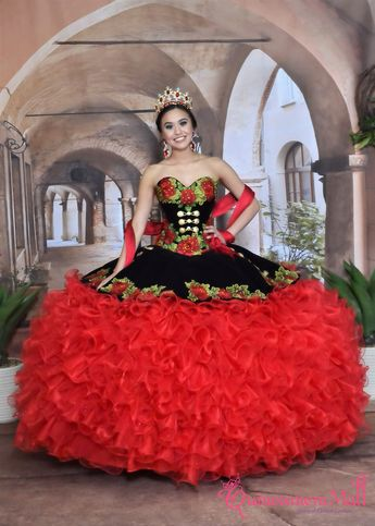 e7f094b54c6 Ruffled Charro Quinceanera Dress by Ragazza Fashion M14-114