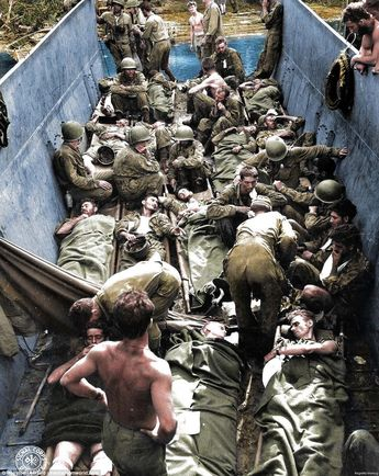 Stunning colorized pictures show the brutal Pacific War