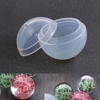 Silicone Mold Mould Tool Sphere Making Pendant DIY Hand Craft Transparent