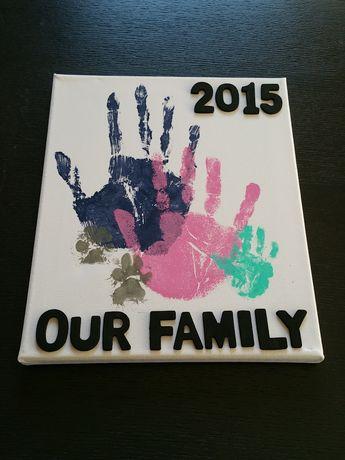 Family Handprints on Canvas