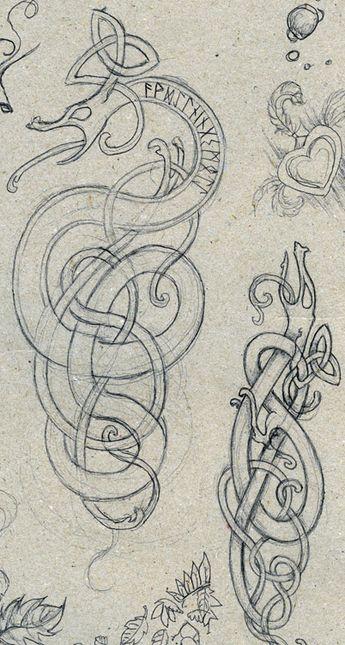 Norse Dragon Ornaments 1