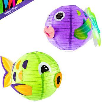Round Fish Paper Lanterns