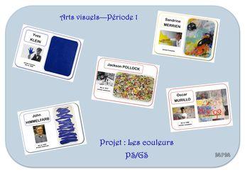 Projet arts visuels : Les couleurs en PS/GS période 1