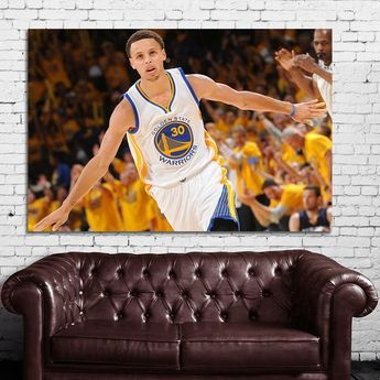 844438c5e7c1 46 Poster Canvas Steph Curry Golden State Warriors Canvas   Stretcher Bars  Frame