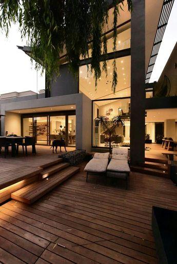 Bela fachada com volumetria e desing! Modern house#