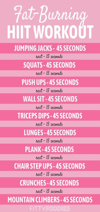 10 Minute Fat Burning HIIT Workout