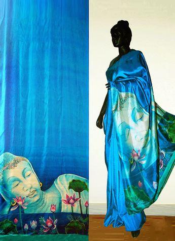 1829362893 Bankura (bishonpur) Silk Hand Painted Saree. Painting of Aj
