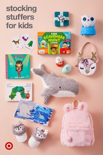 These wee treats are big winners for kids' stock-ing stuffers. Idea: use the backpack as a stocking!