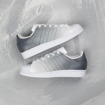 watch e39d5 d2e60 Grey ombre adidas superstar custom shoes