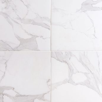 This White Dimarmi Bianco Porcelain Tile Is 18in X With Stone Look Finish
