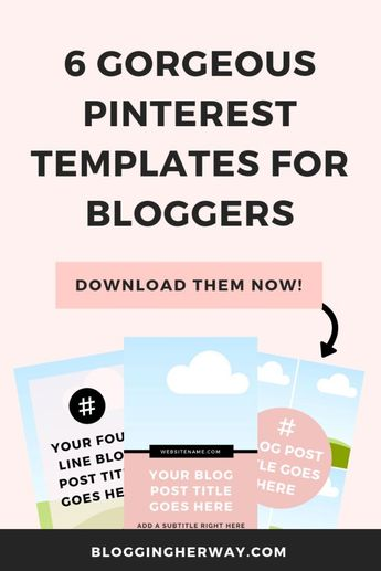 Pinterest Templates for Canva - Blogging Her Way