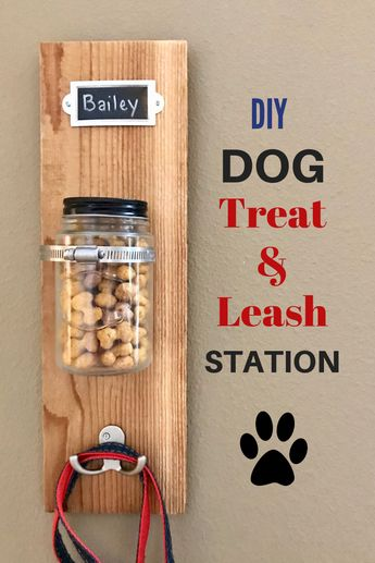 DIY Dog Treat & Leash Station with Milk-Bone #ad