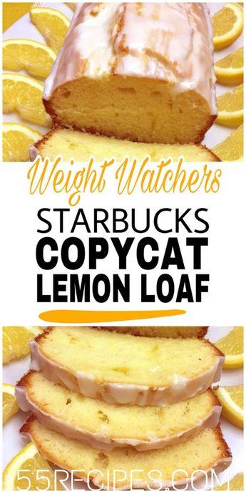 Starbucks Copycat Lemon Loaf #weightwatchers #starbucks #copycat #copycatrecipes #lemon #lemoncake #loaf #slimmingworld #weight_watchers