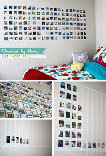 My sister made this DIY photo wall inside her college apartment room. I think the hardest part about this is trying to pick out which ...