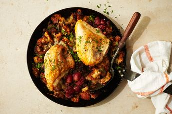 Roasted Chicken Breasts with Grape Stuffing