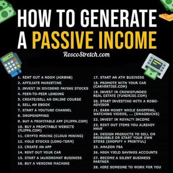 How To Generate Passive Income! Start Earning Online Today, Many Options Available On My Website!