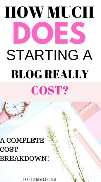 How to Start a Blog on a Budget - Jeanette Giselle Blog