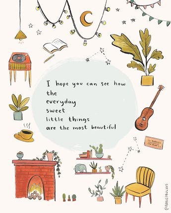 I Hope You Can See How Art Print 8x10 - gratitude appreciation little things illustration