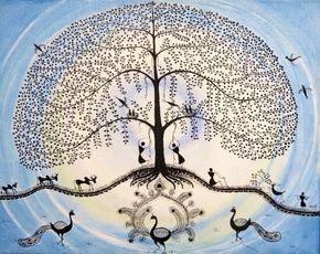 Original Tree of life canvas art