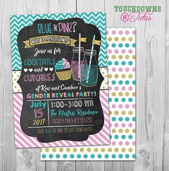 baby reveal invitations pink or blue gender reveal party i