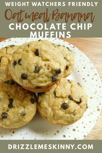 Oatmeal banana chocolate chip muffins