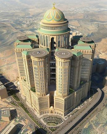 """""""Abraj Kudai - The Largest Hotel in the World. When completed it will be the largest hotel in the world consisting..."""