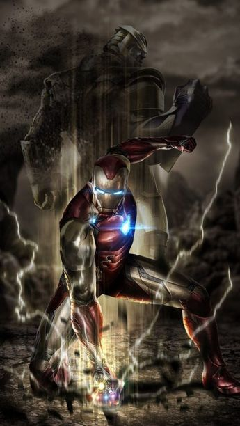 Iron Man Punch on the Ground iPhone Wallpaper - iPhone Wallpapers
