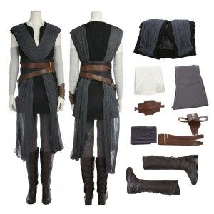 Rey Cosplay Costume Star Wars 8 The Last Jedi