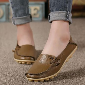 Item: Women Leather Flat Shoes Upper Material: Microfiber Outsole Material: Rubber Insole Material: Bonded Leather Lining Material: Synthetic Occasion: Casual Toe Shape: Round Toe