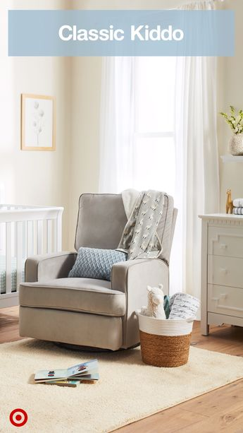 Give your nursery a casual, classic feel with traditional furniture and decor in warm, neutral hues.