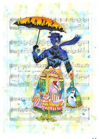 "Tim Rogerson Signed and Numbered Limited Edition Hand-Embellished Gicl�e on Canvas:""A Mary Tune"""