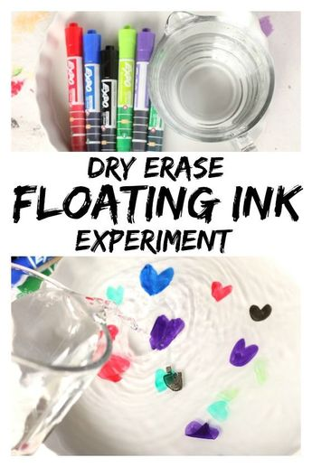 """Dry Erase and Water """"Floating Ink"""" Experiment"""