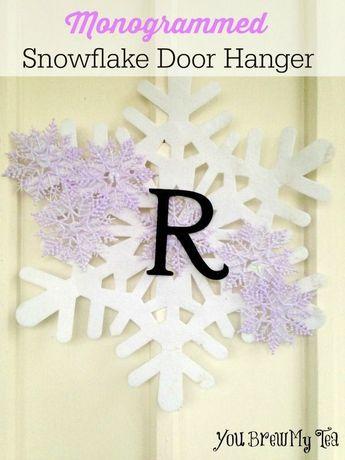 Monogrammed Snowflake Door Hanger