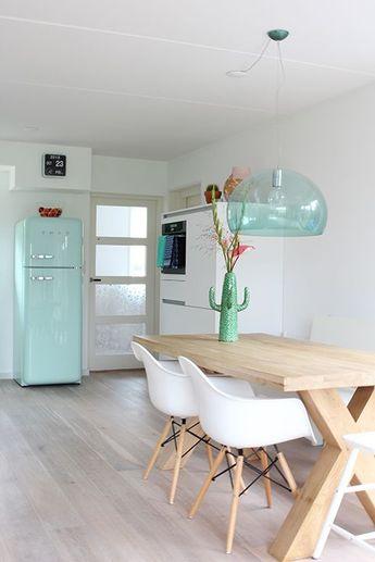 Keuken | Elske | www.elskeleenstra.nl #smeg #mint: