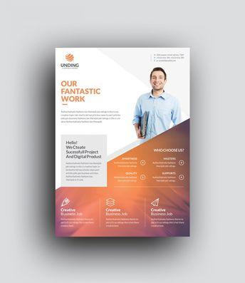 Orthrus Modern Premium Business Flyer Template 001054 - Template Catalog