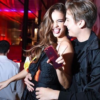 👫♥️ — #barbarapalvin @realbarbarapalvin @dylansprouse