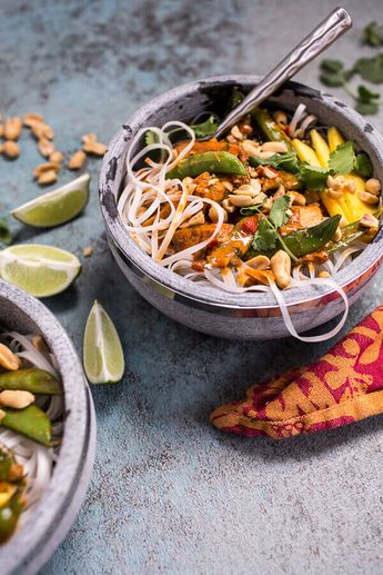 Thai Red Fish Curry Noodles