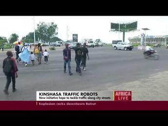 Kinshasa traffic robot cops hope to tackle traffic along city streets