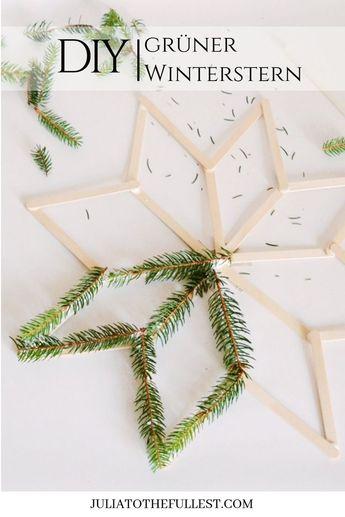 DIY - grüner Winterstern mit Vorlage