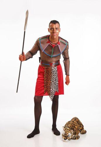 DisfracesMimo, disfraz de negro africano para hombre adultos talla m/l.Únete al resto de la tribu para danzar como los massais en carnaval,despedidas.Este disfraz es ideal para tus fiestas temáticas de disfraces del mundo,paises y regionales hombre adultos.