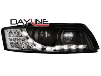 Faruri DAYLINE Peugeot 206 98-07 semnal LED cromate - Tunin