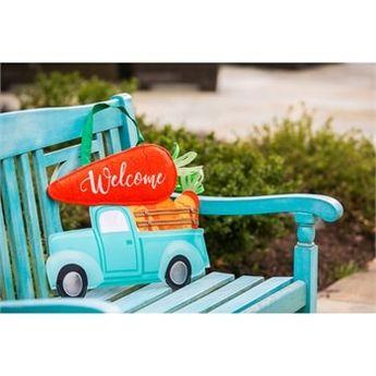 "Carrot Truck Door Decor - 20"" x 12.25"" - Evergreen"
